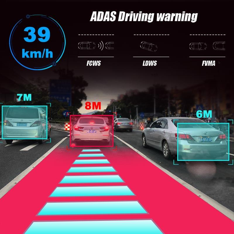 2019 12 pouces Android 8.1 voiture DVRs caméra GPS Navi Bluetooth FHD rétroviseur avec caméra DVR enregistreur 4G Wifi ADAS Dash Cam - 3