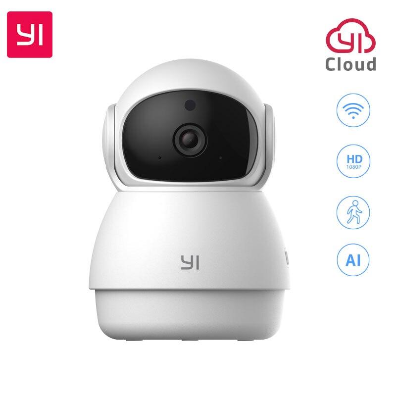 Cámara YI Dome Guard 1080P FHD visión nocturna cobertura de 360 grados detección humana de movimiento alerta de llanto de bebé WIFI lapso de tiempo nube