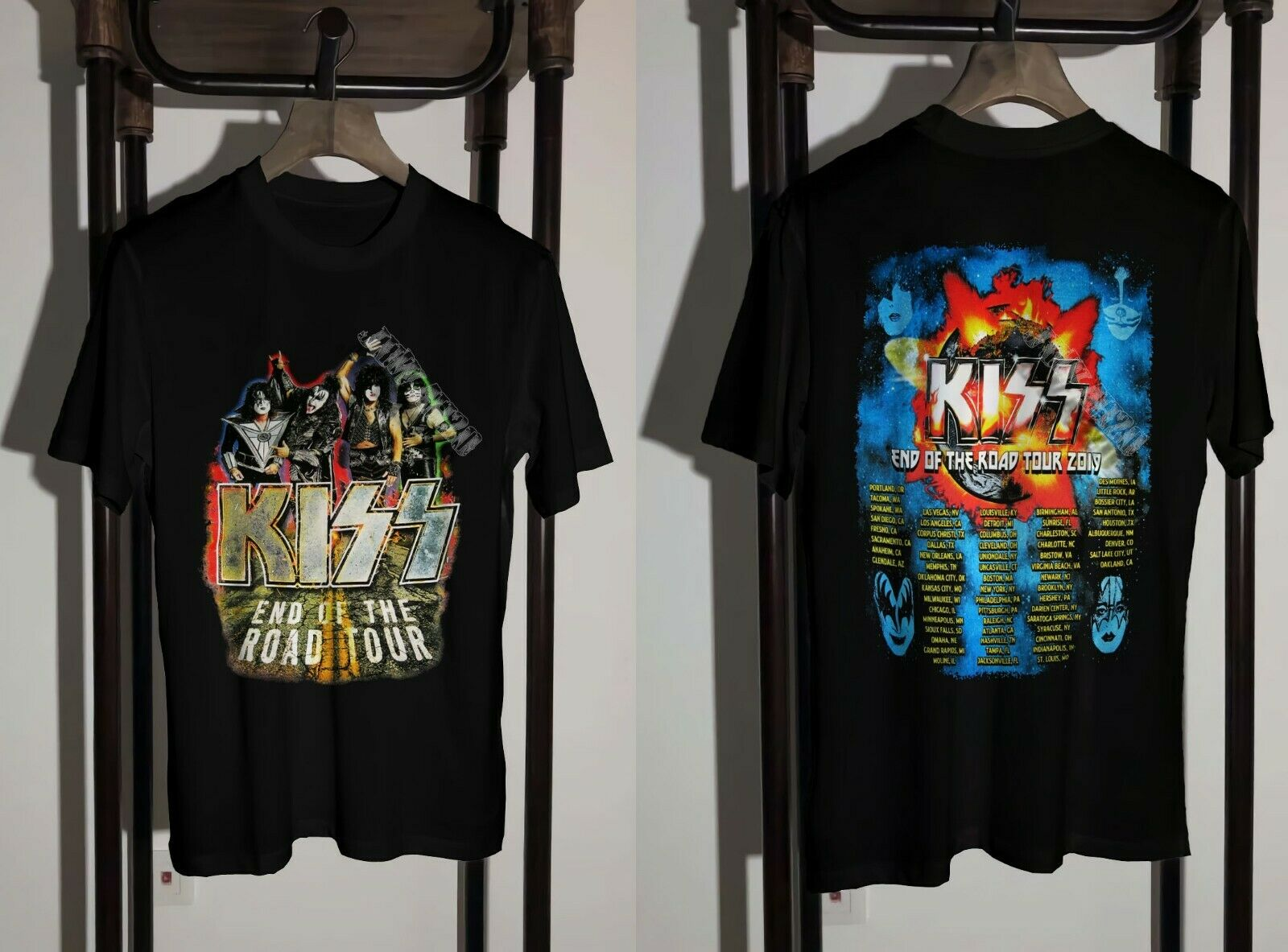 Kiss T Shirt 2019 End Of The Road Tour Clothing Unisex S To 2 Xl by Ali Express.Com