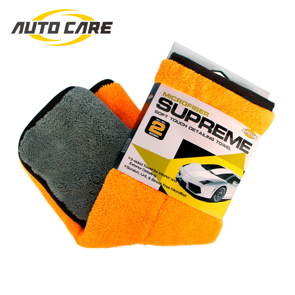 800gsm 45x38cm Microfibre Detailing Wax Polishing Thick Plush Towel Microfiber Cleaning Drying Cloth Absorption For Car Home