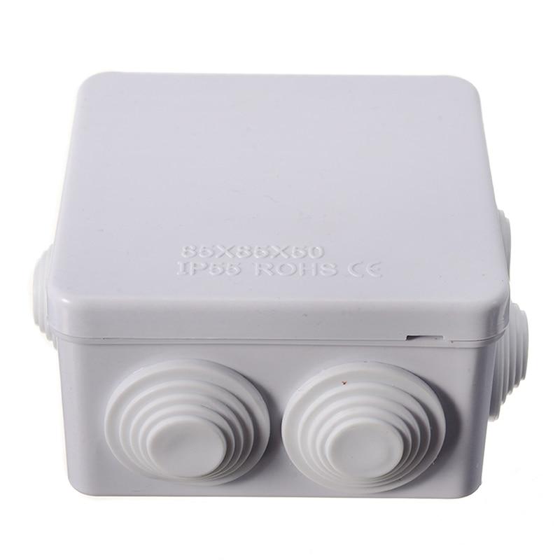 Outdoor Junction Box Housing Universal Electrical Enclosure Box IP55 Waterproof Plastic Dustproof White