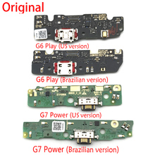 Original New USB Charging Port Connector Dock Board Flex Cable With Microphone For Moto G4 G5 G6 Play G3 E5 E4 Plus G7 Power G30