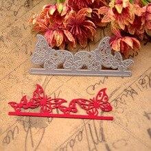 Butterfly border Metal Cutting Dies for DIY Scrapbooking Crafts Album Embossing Folder Stencils Maker Photo Template Decor