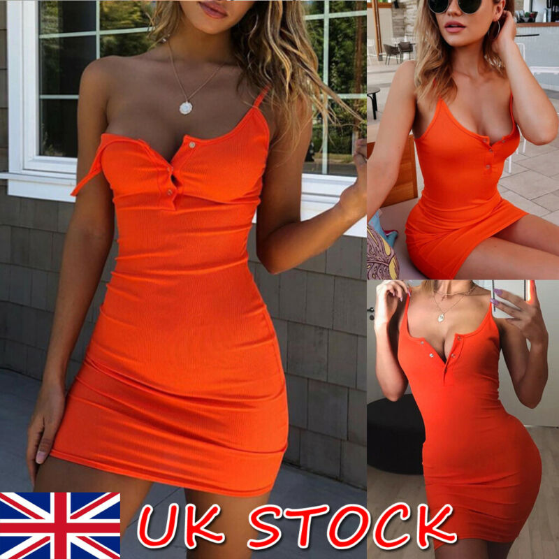2019 New arrival <font><b>Sexy</b></font> <font><b>Women</b></font> <font><b>Summer</b></font> Sleeveless <font><b>Body</b></font> con V Neck Party Evening Beach Short Mini <font><b>Dress</b></font> image