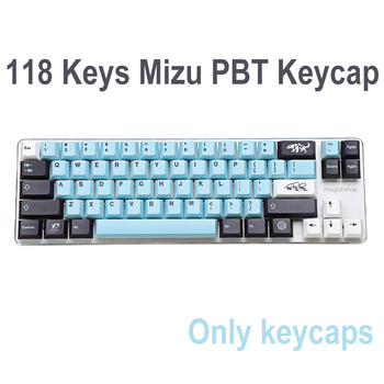 118 Keys Mizu Keycap Set Cherry Profile PBT Keycaps Key cap Set for 61/64/68/75/84/87/96/980/104/108 Mechanical Keyboards 1