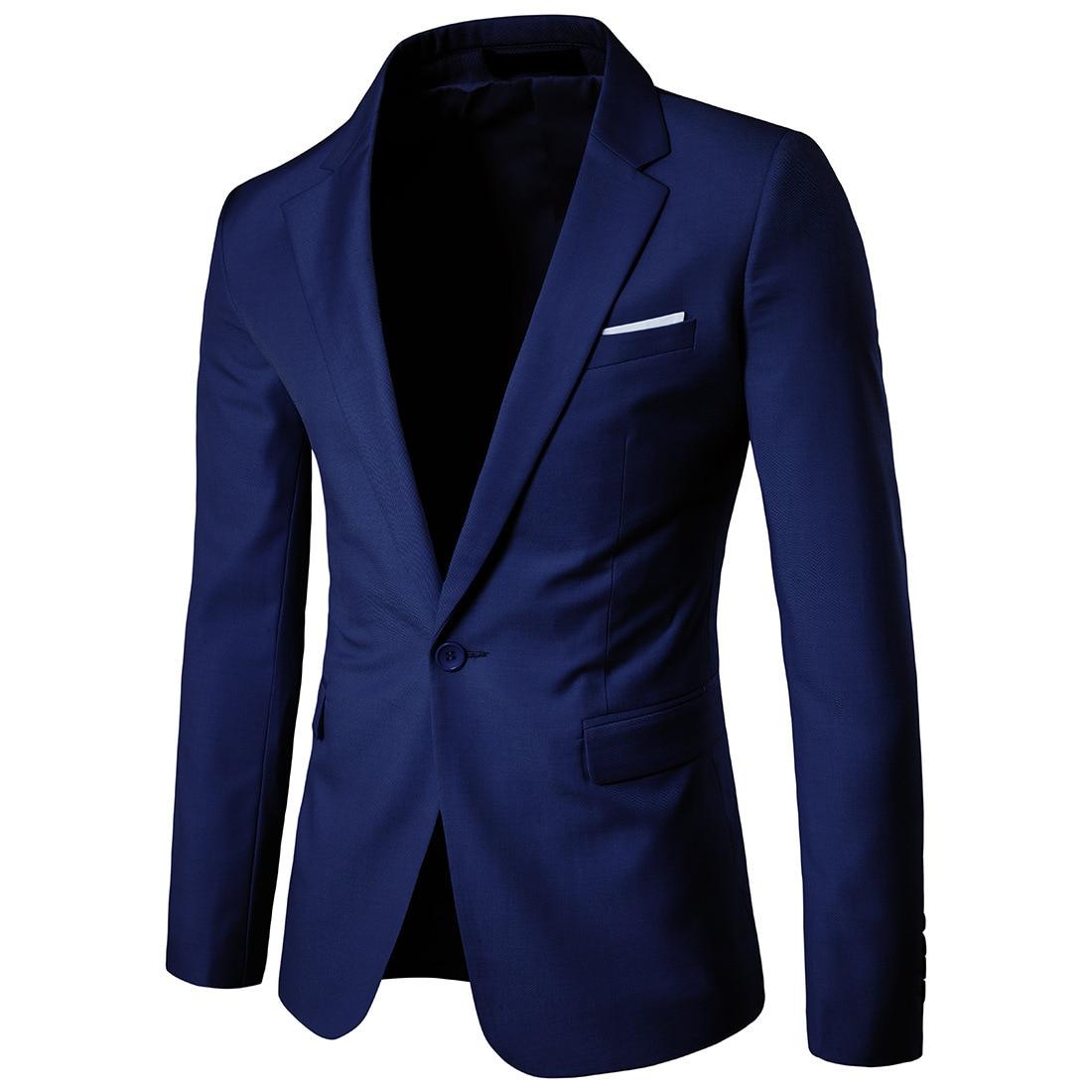 Business Leisure Suit Lang Best Man Wedding One-Button Suit Jacket Men'S Wear Navy Xf001 West