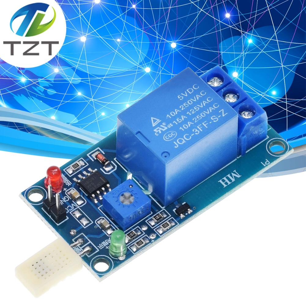 NEU DC 5V 1 Channal 1CH 5V HR202  Humidity Sensitive Switch Relay Module