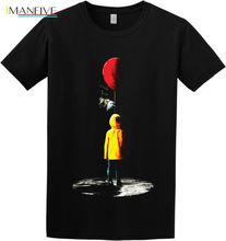 Georgie - Creepy Scary IT Clown 2019 Stephen King Movie Inspired T-shirt Short Sleeves Cotton Fashion T Shirt Free Shipping