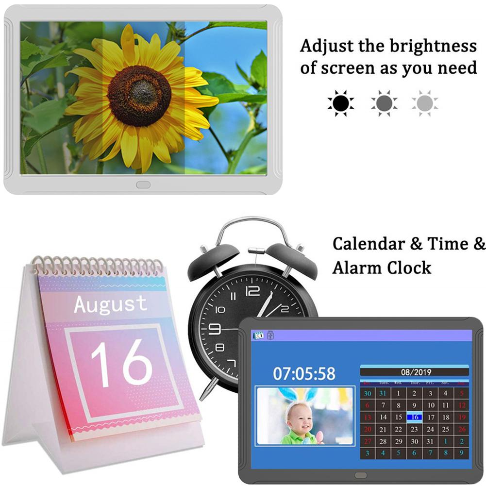 8 inch Screen LED Backlight HD 1920*1080 Digital Photo Frame Electronic Album Picture Music Movie Full Function Good Gift image