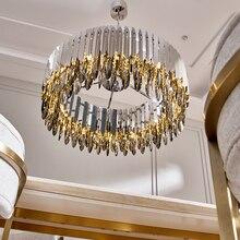 Kristal avize krom dekoratif avize restoran otel lambası oturma odası için