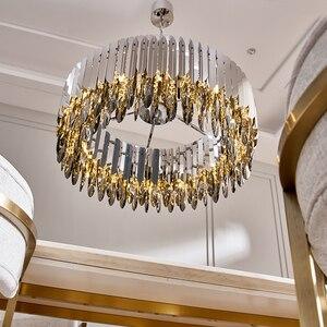 Image 1 - Kristal avize krom dekoratif avize restoran otel lambası oturma odası için