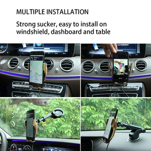 Image 5 - Qi Wireless Charger Automatic Clamping 10W Car Wireless Charger For iPhone Xs Huawei LG Infrared  Car Phone Holder