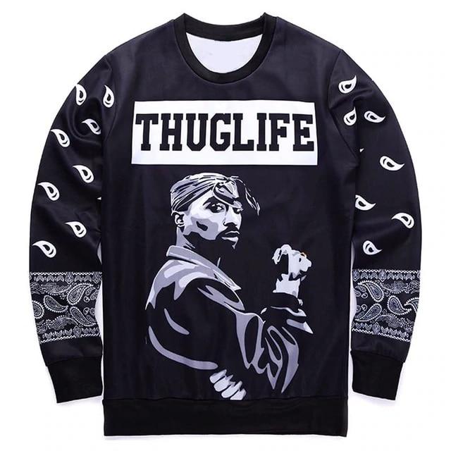 PLstar Cosmos 2pac Tupac Shakur Rock Singer Men Women Sweatshirt Hoodies 3D Print Long Sleeve Man Casual drop shipping