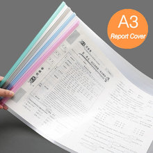 5PCS A3 File Cover Art Design Drawings Paper Organizer Office A3 Spine Bar Report Cover