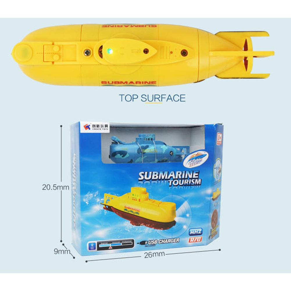 None Mini RC Submarine Ship 6CH High Speed Radio Remote Control Boat Model Electric Kids Toy image