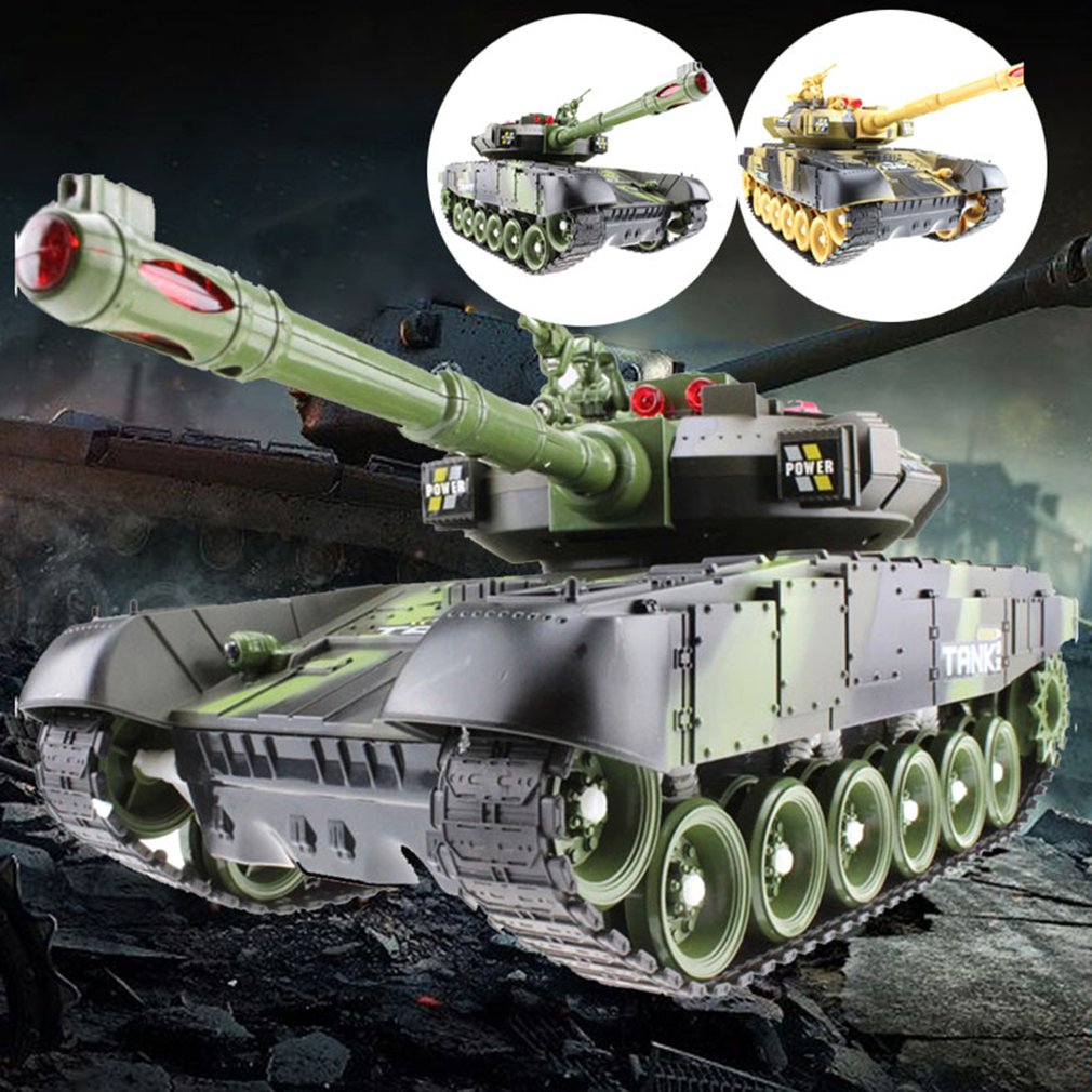 33/44CM RC Tank Charger Battle Launch Cross-country Tracked Remote Control Vehicle RC War Tank Hobby Boy Toys For Kids Children