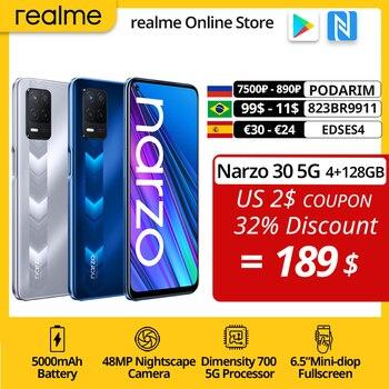 World Premiere realme narzo 30 5G Smartphone 4GB 128GB Dimensity 700 48MP Triple Camera 5000mAh Battery 90Hz Display NFC 1