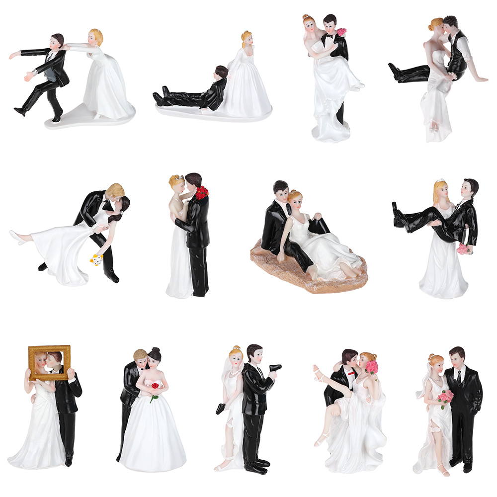 16 видов синтетических смол, пара тортов для невесты и жениха, свадебное украшение, статуэтка, подарок, День Святого Валентина, украшение для ...