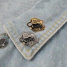 Животное брошь Панк Кот Луна значок джинсовая рубашка отворот
