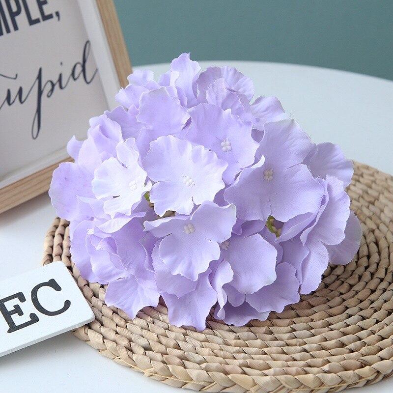 10шт/много Большой 18см искусственный цветок гортензии глава DIY Свадебная арка, цветочные стены фон для отель украшения фон