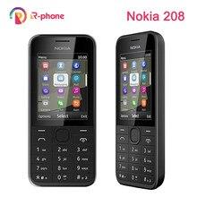 NOKIA – téléphone portable 208 reconditionné et débloqué, Version double Sim, GSM, rigide