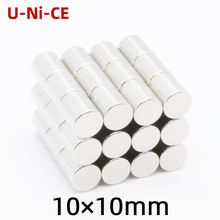 3/10/50pcs 10x10mm N35 Super strong powerful cylinder of rare earth neodymium magnets 10*10mm