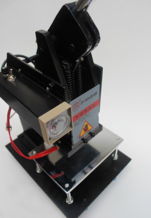 Folią na gorąco maszyna stemplująca 100x150mm skóry i papieru maszyna do tłoczenia na gorąco
