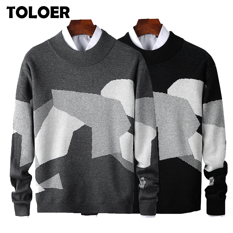 2020 New Fashion Sweaters Man Brand Pullovers O-Neck Slim Fit Jumpers Knitwear Thick Autumn Korean Style Casual Mens Clothes 3XL