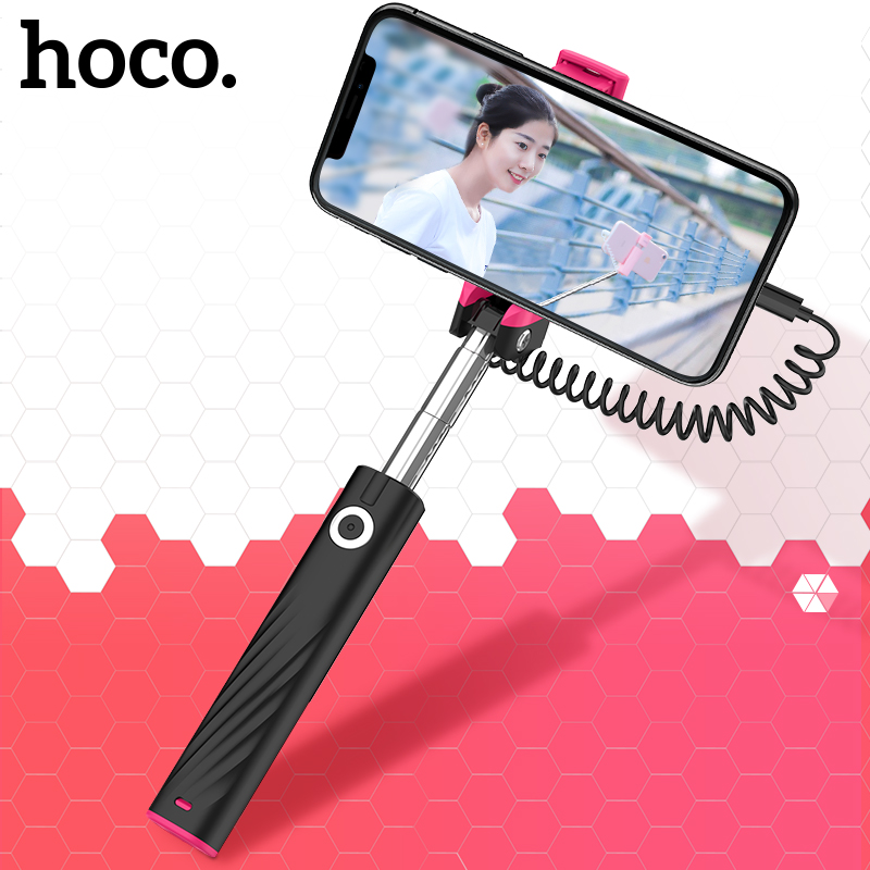 HOCO Universal Mini Selfie Stick Wired Handheld Monopod Extendable Portable Selfiestick For IPhone X 8 7 Samsung S9 Xiaomi Mi 8