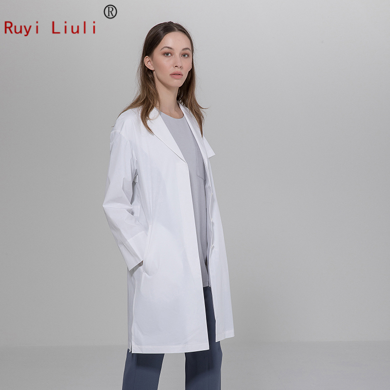 Plastic Surgery Hospital Doctor White Gown Long Sleeve Dental Salon Tattoo Doctor Pharmacy Physician Clothing