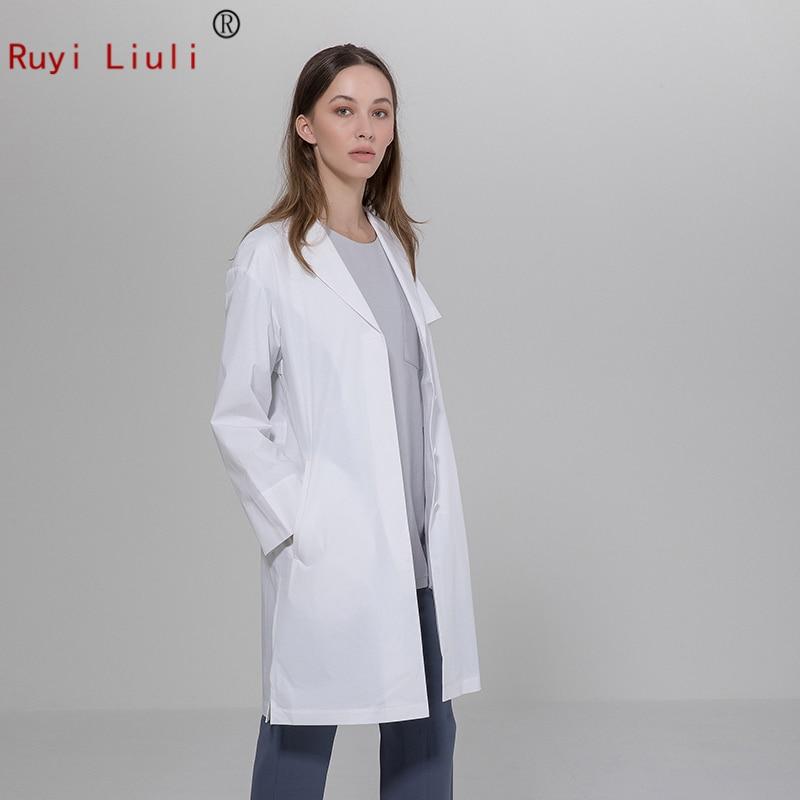 Plastic surgery hospital doctor white gown long sleeve dental salon tattoo pharmacy physician clothing