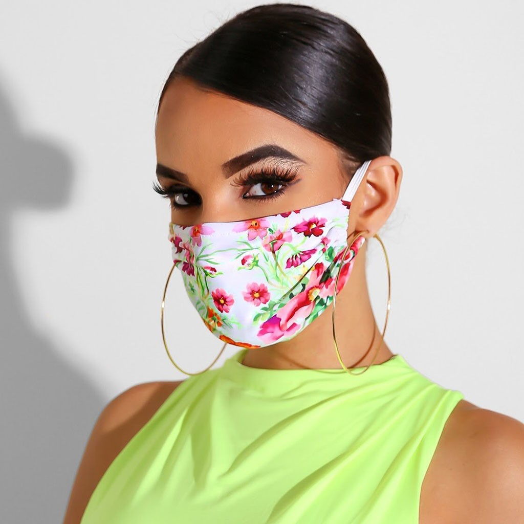 PM2.5 Breathable Print Washable Dust -ultraviolet Breathable Flowers Printed To Fit The Face Mask #f