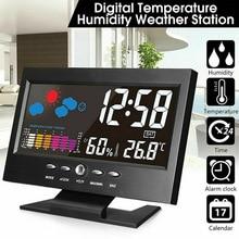 Alarm Temperature-Humidity-Meter Weather-Station Calender/clock Digital Wireless Display