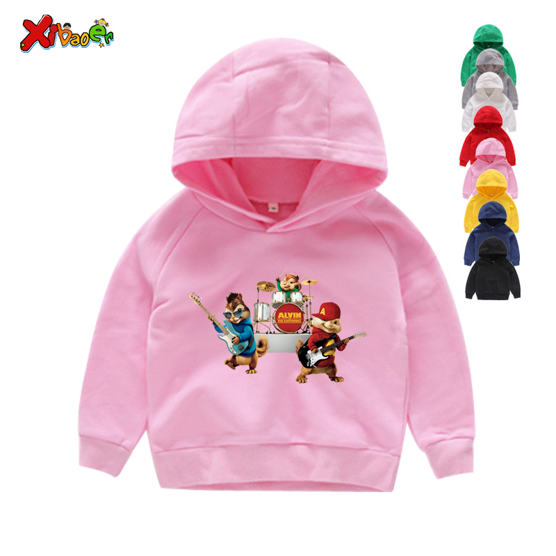 Hot Sale New Brittany Eleanor Jeannette and The Chipmunks Boys Tops Girls Tops Costume Alvin Costume Kids Hoodies & Sweatshirts