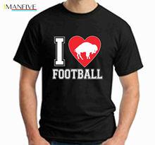 I Love Football T Shirt mens woman tee funny buffalo heart valentines day bills woodgrain heart pattern valentines day door stickers