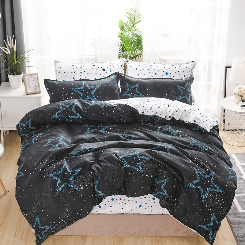 1pcs Star Printing Bedding Duvet Cover Cotton Skin-friendly Material High Quality Quilt Cover With Zipper Machine Washable Type
