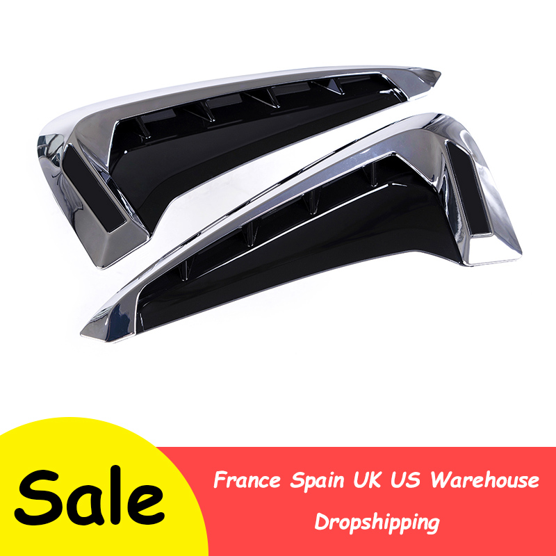 For BMW Emblem Logo X5 F15 X5M F85 14-18 Car Shark Gills Side Fender Vent Decoration 3D Stickers Auto Accessories