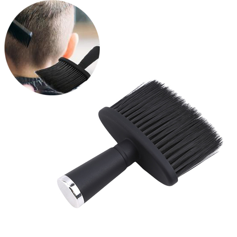 Soft Black Neck Face Duster Brushes Professional Barber Hairbrush Beard Brush Salon Cutting Hairdressing Styling Tool 1PC