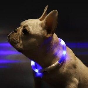 Image 5 - Youpin Pet Licht Kragen Wasserdichte xl81 5001 Anti verloren Tag LED Warnung Beleuchtung USB Lade Kragen für Hund