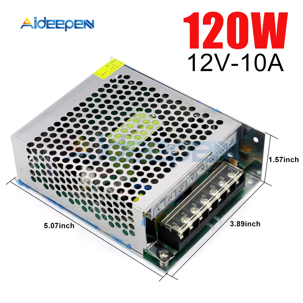 12V 10A 120W Switching Power Adapter 12V 10A 120 Watts Voltage Converter Regulated Switch Power Supply for LED