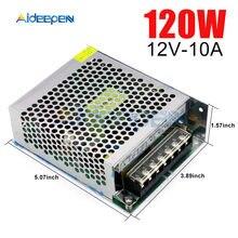 12V 10A 120 W de potencia de conmutación 12V adaptador 10A 120 vatios convertidor de voltaje interruptor regulado fuente de alimentación LED para