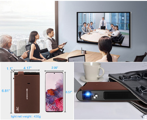 Image 5 - S6W Wifi Mini portable 3D Shutter Projector Smart Wifi Pocket DLP 8400mAh Battery Support HD 1080P Miracast proyector para movil