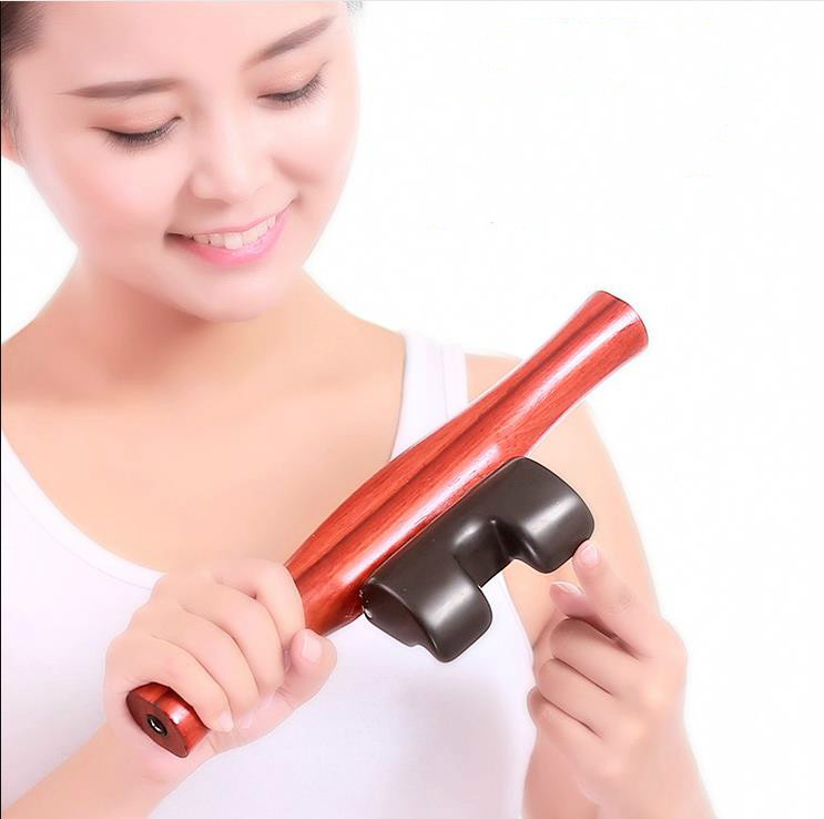 Bian-stone electric scraping instrument massage is spinal massage whole spine care lumbar spine scraping board through the back