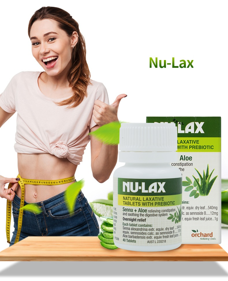 NuLax Natural Laxative 40Tablets With Prebiotic Senna Aloe Constipation Treatment Overnight Relief Stimulating Bowel Evacuation