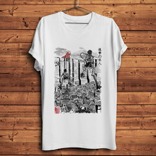 Camiseta de anime de Attack on Titan Flying for humany para hombre, camisa informal de manga corta, color blanco, regalo unisex, novedad de verano