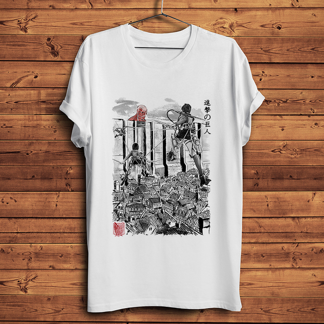 Attack on Titan Flying for Humanity anime t shirt men summer new white casual homme short cool manga tshirt unisex gift