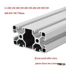 4080 profil aluminiowy wytłaczanie europejski Standard anodyzowany profil liniowy wytłaczanie aluminium 4080 profil do części drukarki 3D CNC