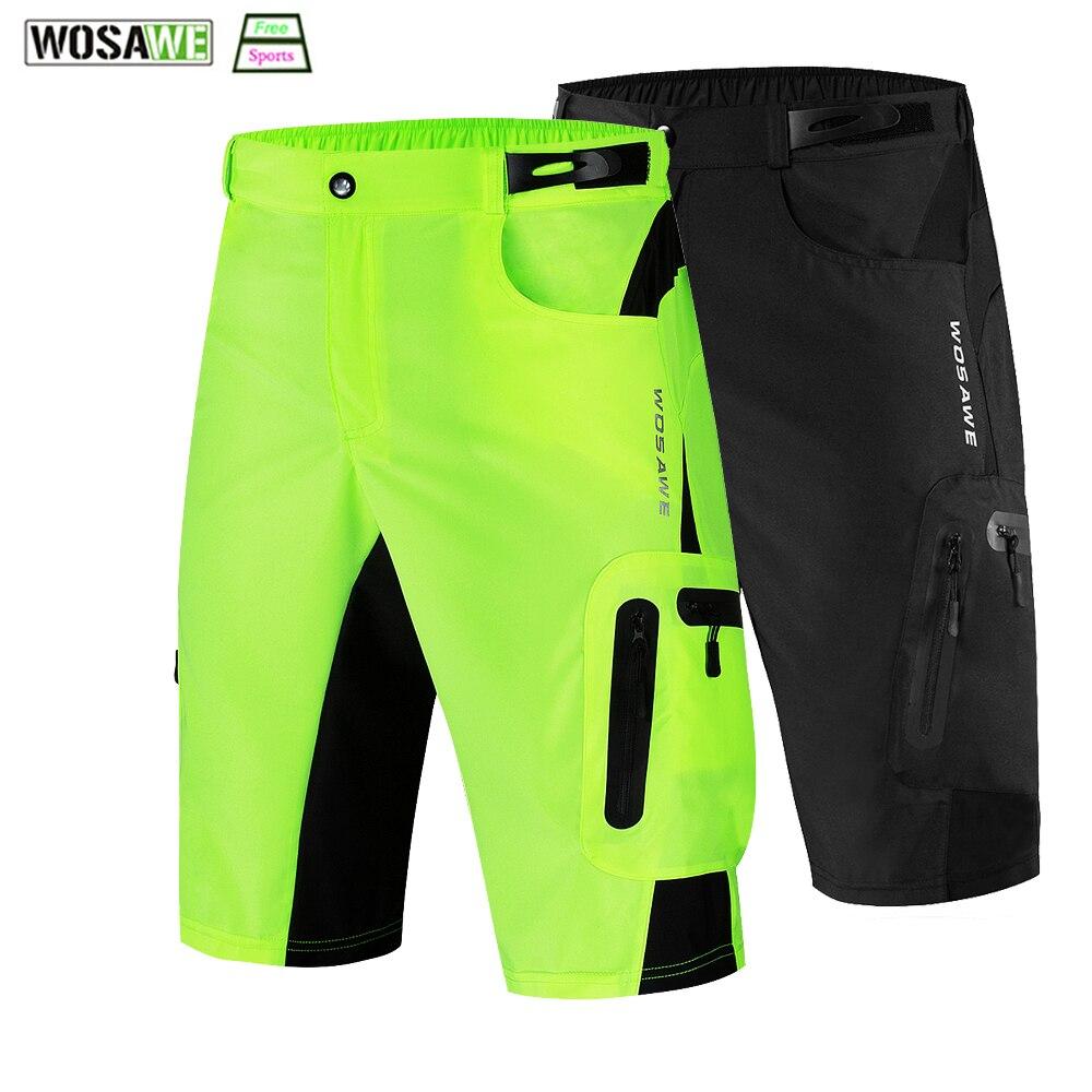 WOSAWE Men's Cycling Shorts Mountain Bike Summer Breathable Outdoor Sports MTB Riding Road Cycling Shorts Bicycle Clothing