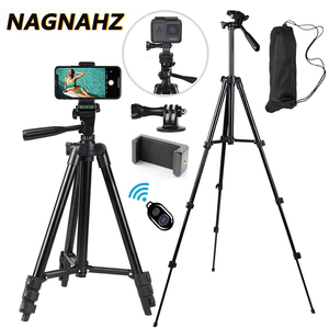 Image 1 - Mobile Phone Tripod Stand 40inch Universal Photography for Gopro iPhone Samsung Xiaomi Huawei Phone Aluminum Travel Tripode Para