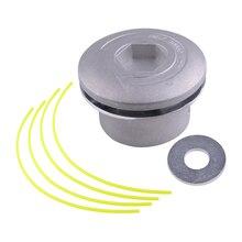 Алюминиевый серый шнур Linehead триммерная головка катушка пакет для резак сорняков инструменты